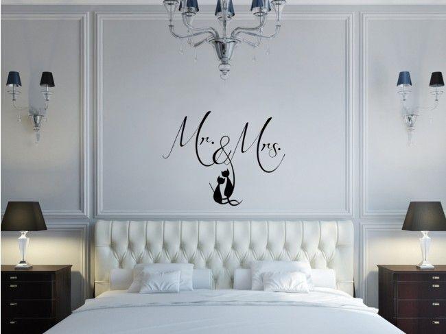Nowoczesny design rownież w Twojej sypialni :) #naklejkaścienna #naklejkinaścianę #poangielsku #mr&mrs #artgeist