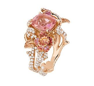 Pink, ornate loveliness from Dior preciuse rose #jewelry