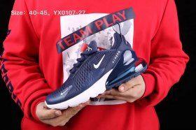 Advanced Nike Air Max 270 Navy Blue Black White Men s Running Shoes Sneakers 2f6f5b84a5