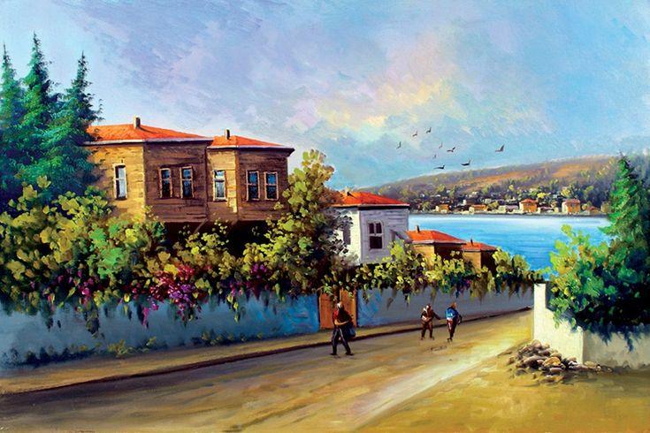Yağlı boya İstanbul caddeleri