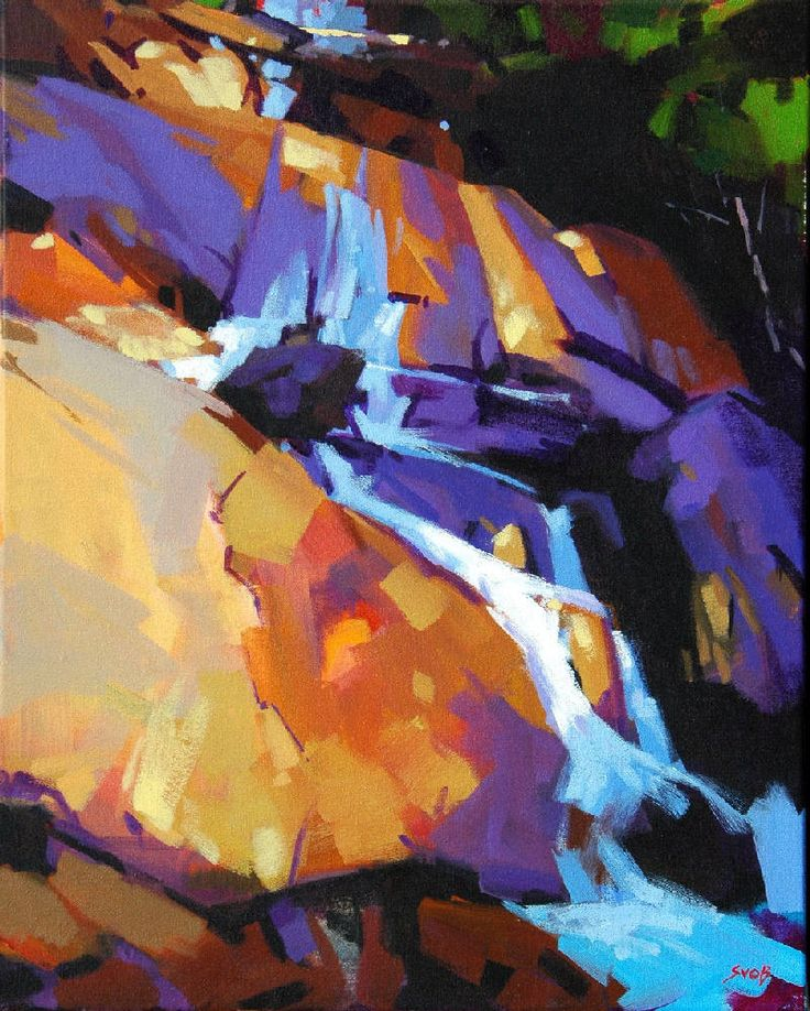 Artist: Mike Svob, Title: Cascade at Shannon Falls