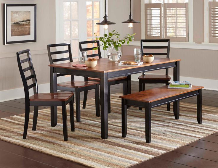 The Lexford Collection Offers Casual Family Style Dining Its Versatile Two Tone Finish Of Room ArtDining