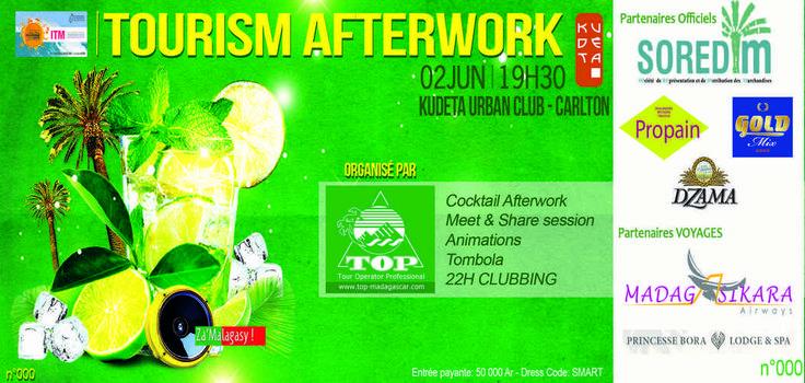 Association TOP : Une soirée « Tourism After Work » organisée by Hôtel*** Restaurant gourmand Coco Lodge Majunga. Il y aura plusieurs Tombolas avec de gran