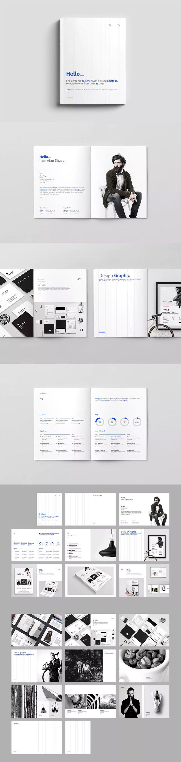 39 best Portfolio Brochure / Book Templates images on Pinterest ...