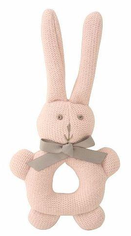 Knit bunny grab rattle    alimrose.com.au