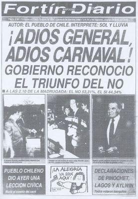 El viajero pagado: Portadas del Fortín Mapocho octubre 1988