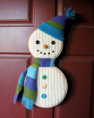 Hoop Snowman