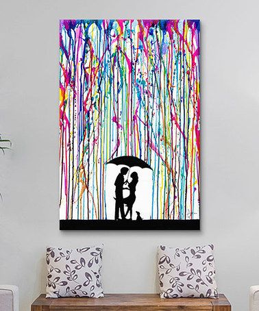 Another great find on #zulily! Two Step Wrapped Canvas #zulilyfinds. Oh my goodness. Do you see the puppy in the picture?? Bright colors AND a puppy?!?! I must have it.