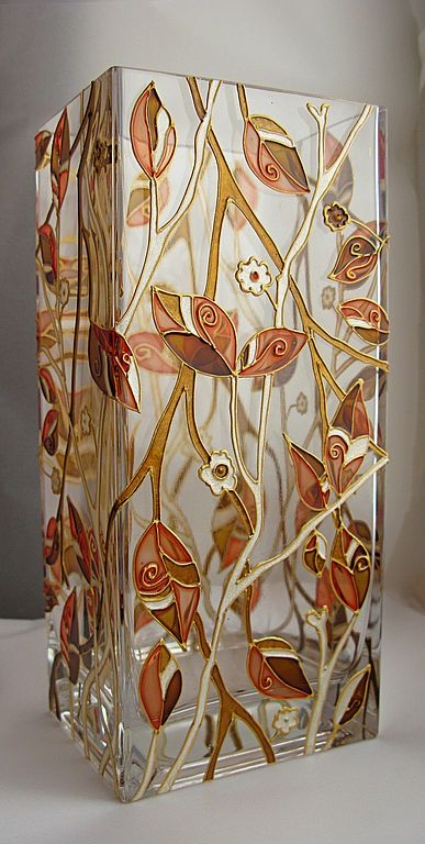 Hand painted vase by ElenaVitro