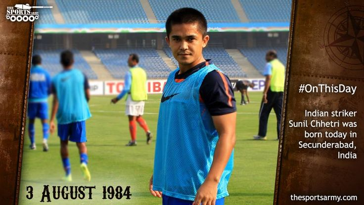 #onthisday : Indian Footballer @chetrisunil11  was born in #Secunderabad, India.  A Very Happy Birthday to him !