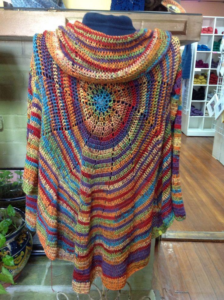 Pinwheel Crochet Cardigan