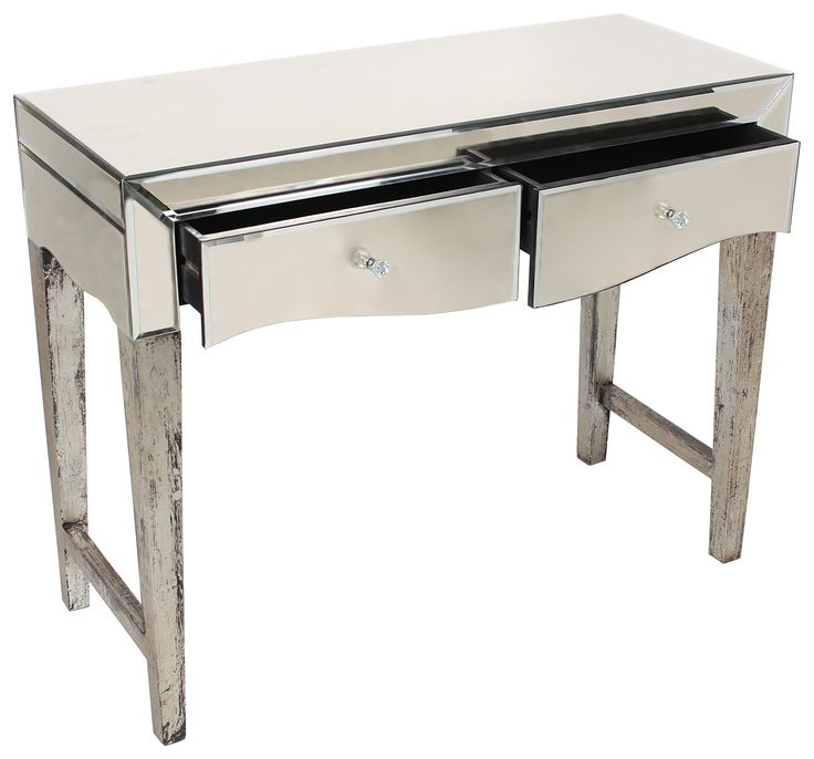 Delicate #mirrored #console in #antique #silver color. www.inart.com