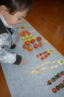 maths counting with counters #montessori #math