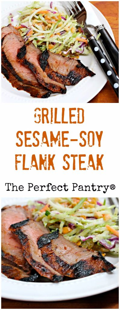Asian-inspired marinade with sesame and soy flavors turns this grilled ...