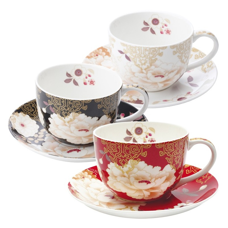 Maxwell and Williams Kimono - i love these cups and saucers!...