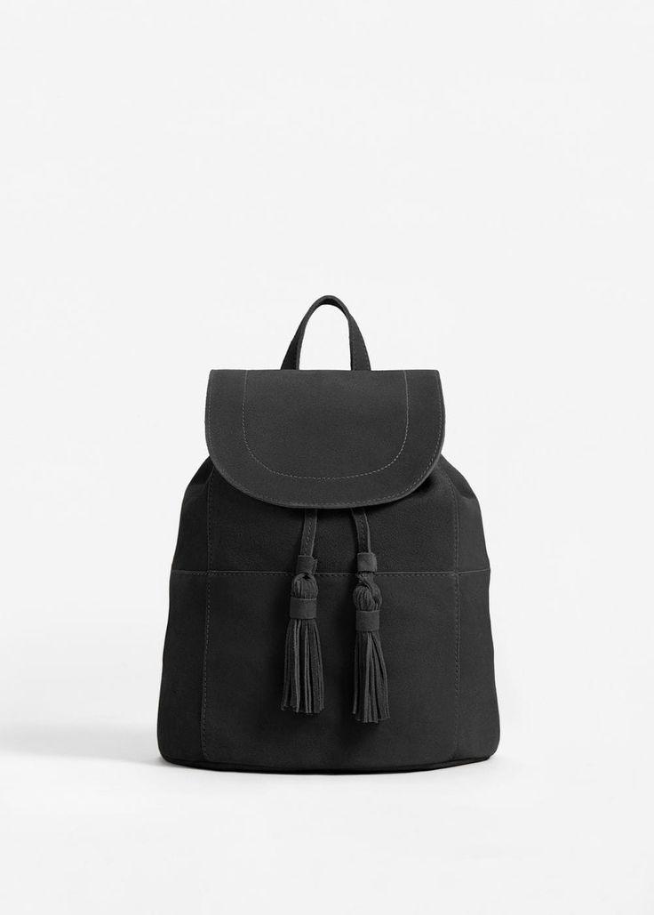 Mochila pele aba (preto): MANGO (39,99€)