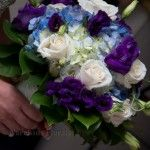 Accents by Narcissus, Toms River, NJ... www.mynarcissus.com.  Blue and White Bridal Bouquet