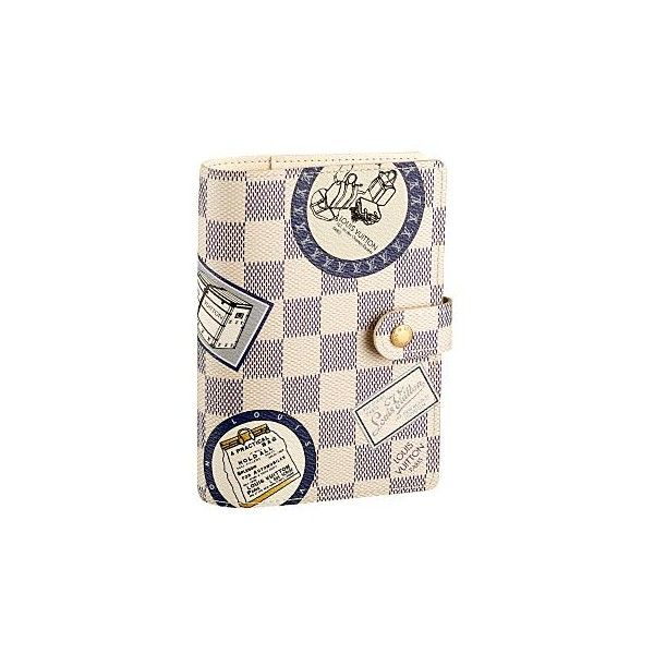 Louis Vuitton - Damier Azur PM Patch Agenda - eLUXURY ($340) ❤ liked on Polyvore featuring home, home decor, bags, accessories, louis vuitton and backgrounds