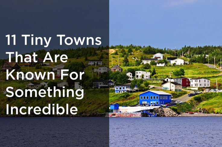 The smallest towns do the biggest things.