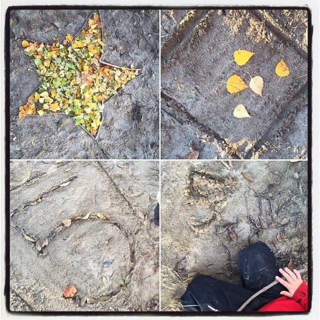 Uppdrag 9: NATURSPANARNA Idé och foto Pia Hedblom Gör en stjärna med 5 uddar Lägg 5 löv i en kvadrat Skriv siffran 5 med löv och med en pinne i sanden. Här får du svaren och hittar fakta: http://naturspanarna.se/bladeniskogenhosten-2/