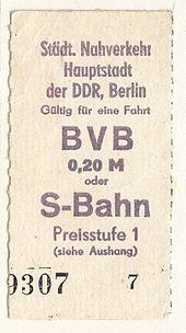 S-Bahn Berlin – (Ost)