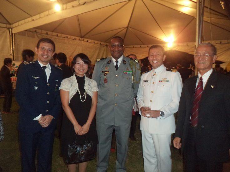 Mission Militaire de l'Ambassade du Sénégal au Brésil: 04/12/2014: Réception japonaise.