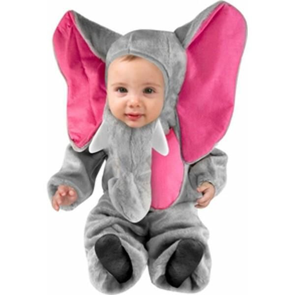 This adorable plush baby elephant outfit is perfect for cold October nights. For a fun sibling costume idea consider purchasing any of our other child elephant