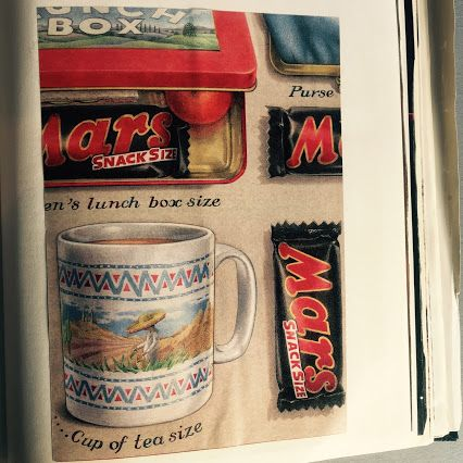 Original (if cut out!) print ad for the #Mars SnackSize from our studioscrapbook #print #advertising #design #chocolate #retro