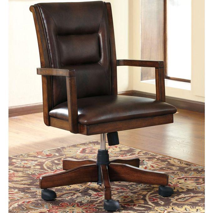 Ashley devrik home office desk chair the devrik home office collection features a desk chair - Devrik home office desk ...