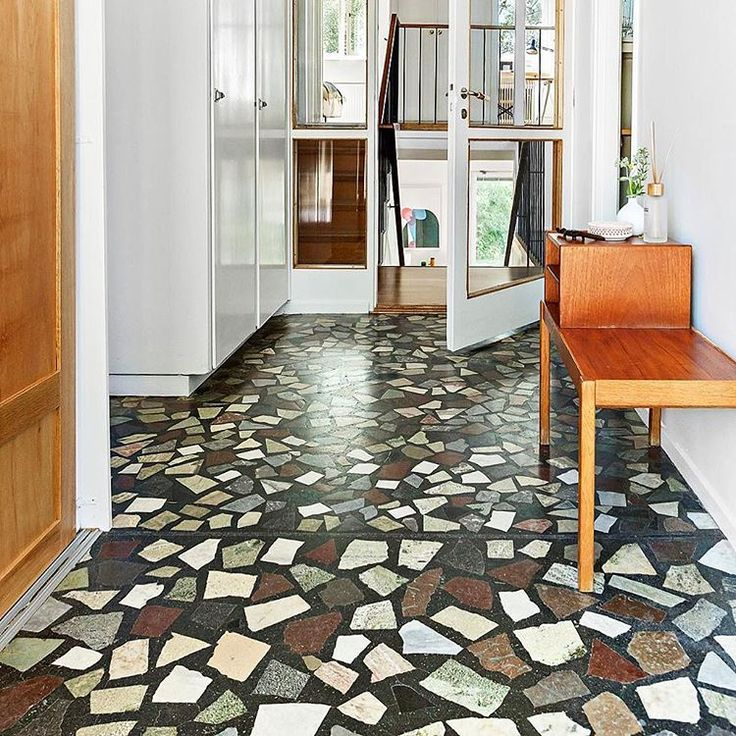 Terrazzo floors are up for a comeback here in a hässelby villa from 1958