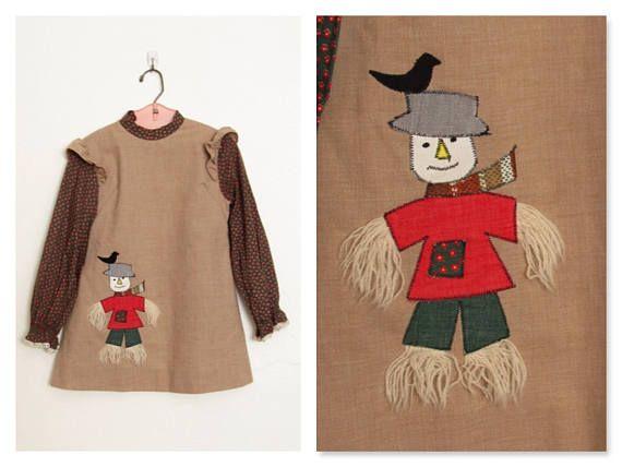 Vintage 1970s Ruth of Carolina Girl's Dress / Daisy Print