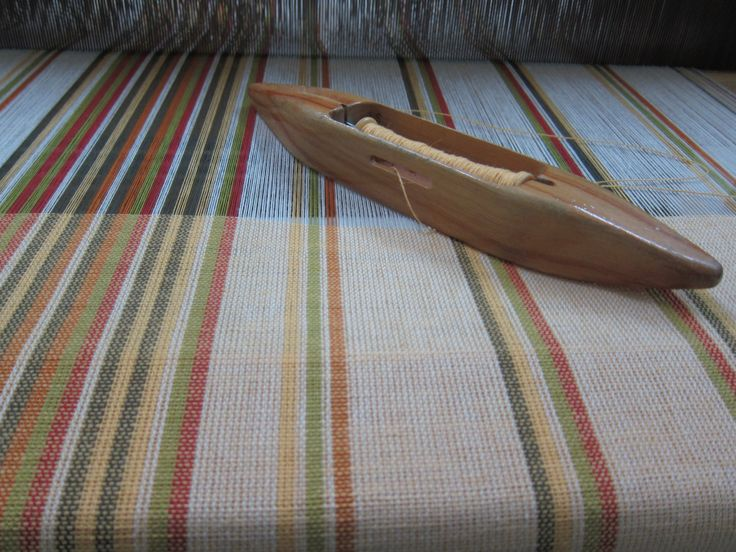 Handmade Woven Windscreen Washer by LesFousDArt. In cotton and flax.
