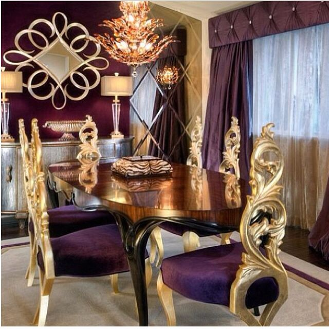 Great Color Scheme For Bedroom Makeover Gold Dining Room Design Ideas With Luxurious Charles Neal Purple