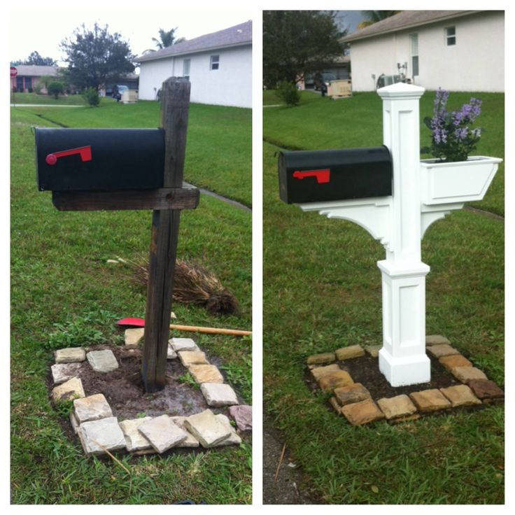 17 best images about mail box ideas on pinterest mailbox for Mailbox post ideas