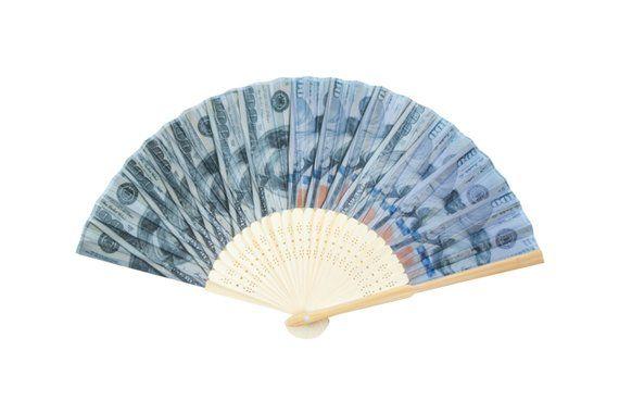 100 dollar bill hand fan