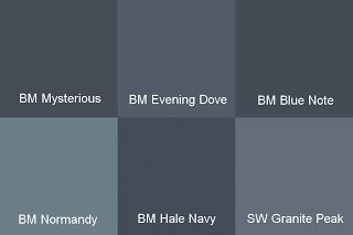 Navy and slate blue paint colors