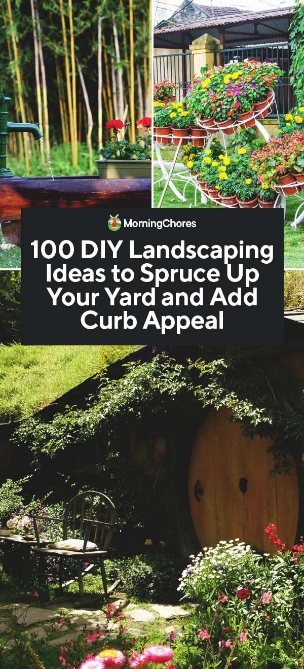 100 DIY Landscaping Ideas to Spruce Up Your Yard and Add Curb Appeal – Megan Hübner