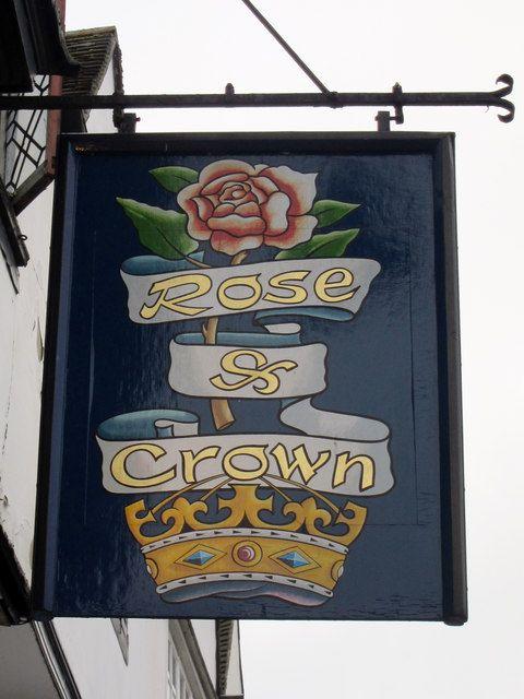 Rose & Crown sign