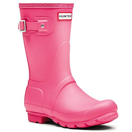 Womens Hunter Original Short Galoshes Wellingtons Waterproof Rain Boots  Bright Cerise  5 *** You can find more details by visiting the image link.