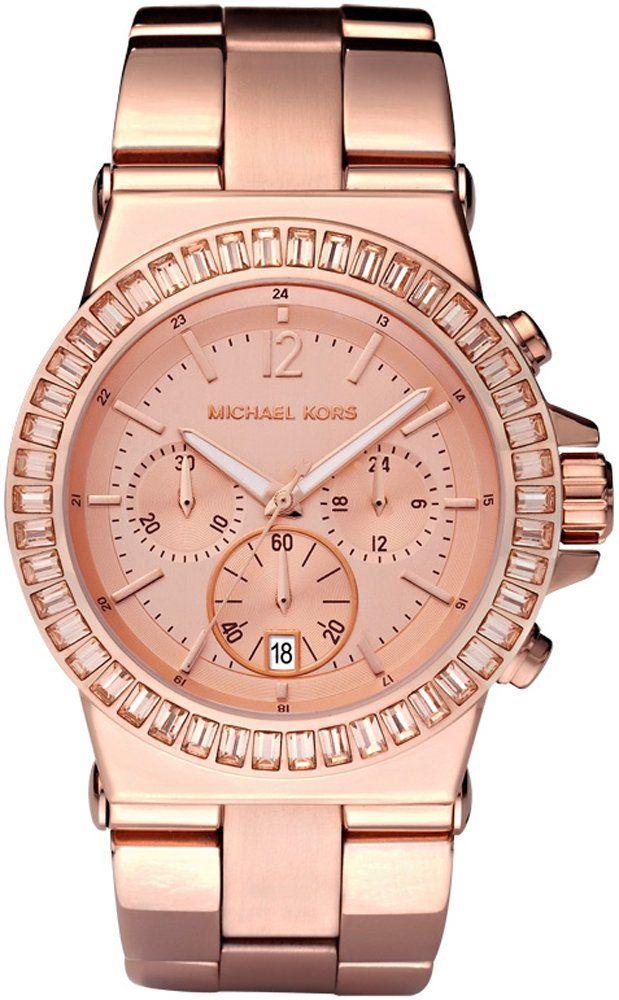 Michael Kors , Reloj analógico de cuarzo para mujer con correa de acero inoxidable, color