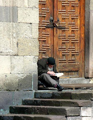 Reading the Q'uran . Erzurum Turkey