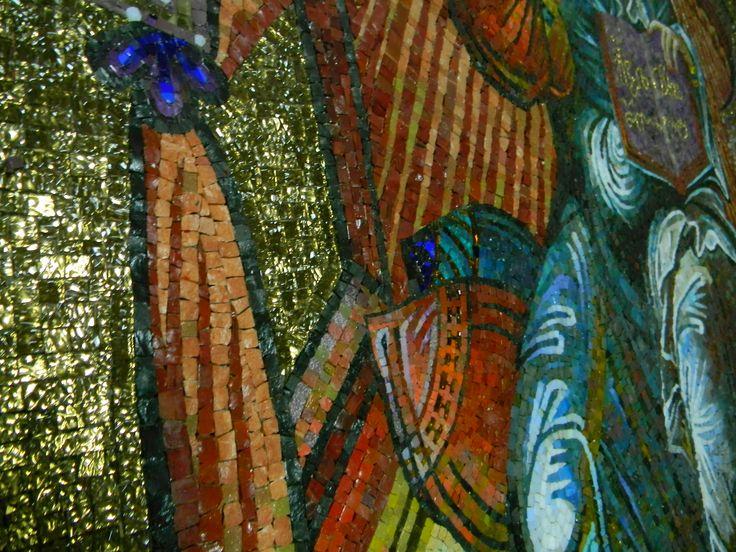 "Мозаика ""Спаситель на Престоле"". Savior on the Throne. Le Christ trônant. Η ψηφιδωτή εικόνα του «Ένθρονος Χριστός». Спаситељ на престолу. Автор - Кавешникова З.А. Село Липовка, Липецкая обл. 2014"