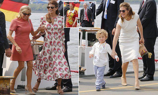 Theresa May's husband joins G20 spouses for Hamburg tour
