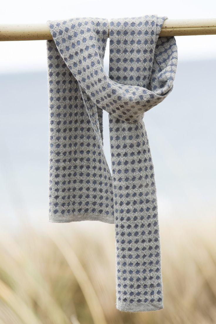 Keypad Scarf in Stardust. 50% Alpaca 50% Merino Wool | McKernan Woollen Mills | Handmade scarves | Made in Ireland | Irish Design | Weaving | Knitting Mens & Women's Accessories