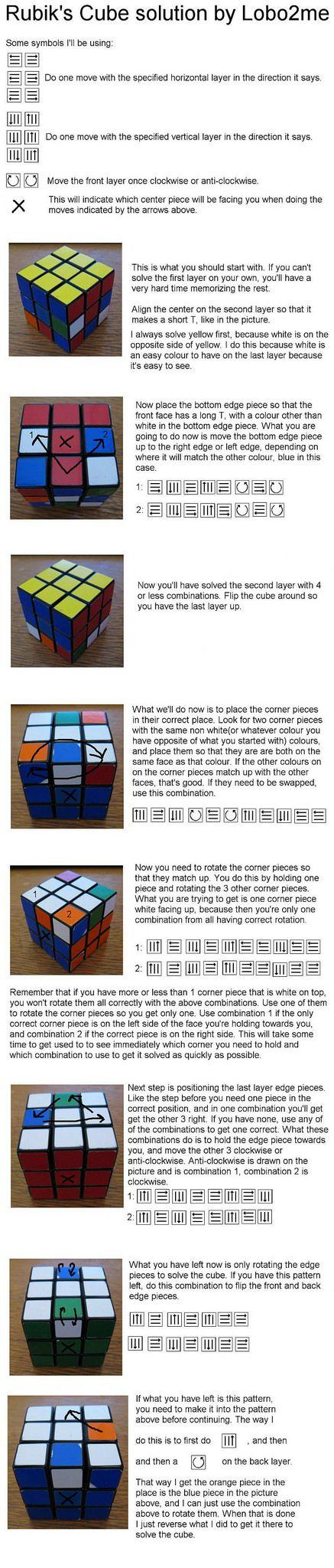 dLifeHax: Rubik's Cube Solution by Lobo2me