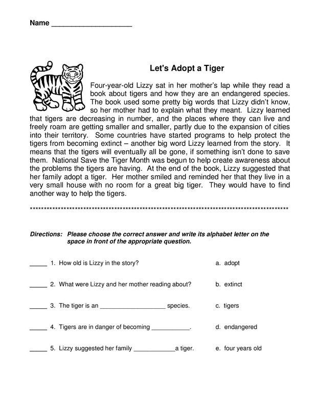 3rd Grade Worksheets | Reading comprehension worksheets ...