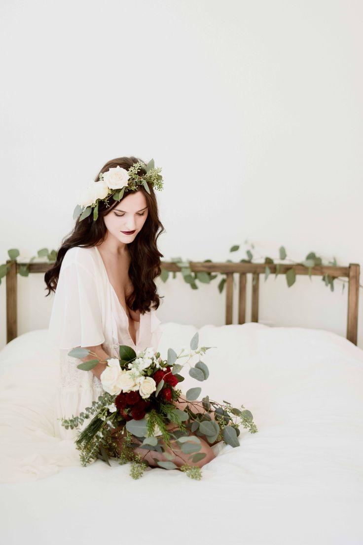 Floral Boudoir A Sea of Love Wedding Photography