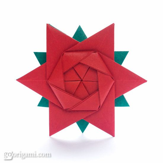 12-Pointed Origami Star. Diagram here: http://www.flickr.com/photos/syngola/11329516183