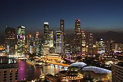 Capital - Singapore. Government-Parliamentary republic. Currency-Singapore dollar (SGD). Area-712.4 sq km. Population-5,076,600 (2010). Language-English(official), Mandarin Chinese (official), Malay(official and national), Tamil(official). Religion-Buddhism, Islam, Christianity, Hinduism, Jainism, Sikhism, Taoism, Confuciansim.