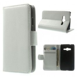 Galaxy Ace 4 valkoinen puhelinlompakko
